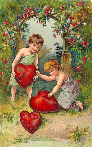 Valentine Cupid Mending Hearts