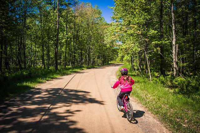 biking in the Poconos