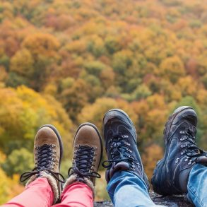 Hiking is a great way to see Pocono Mountains Fall Foliage